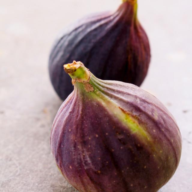 """preparing fresh figs"" stock image"