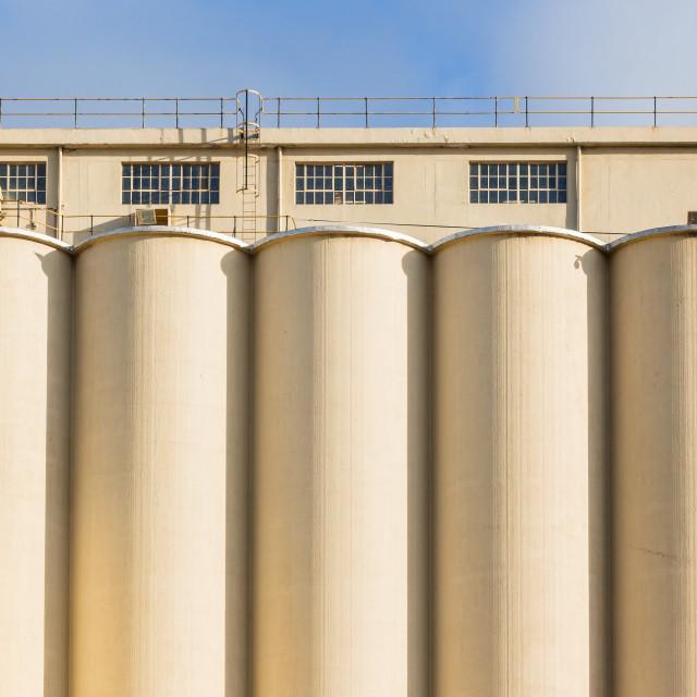 """Factory Grain Silos Food Production"" stock image"