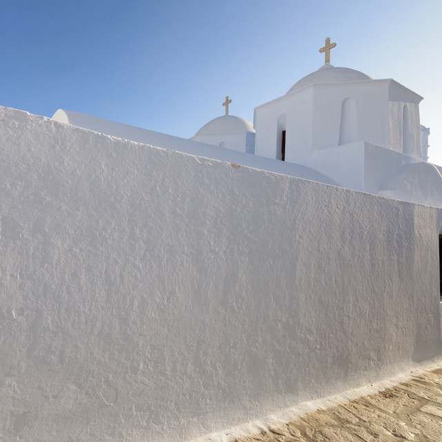 """""""Greek traditional church in Amorgos"""" stock image"""