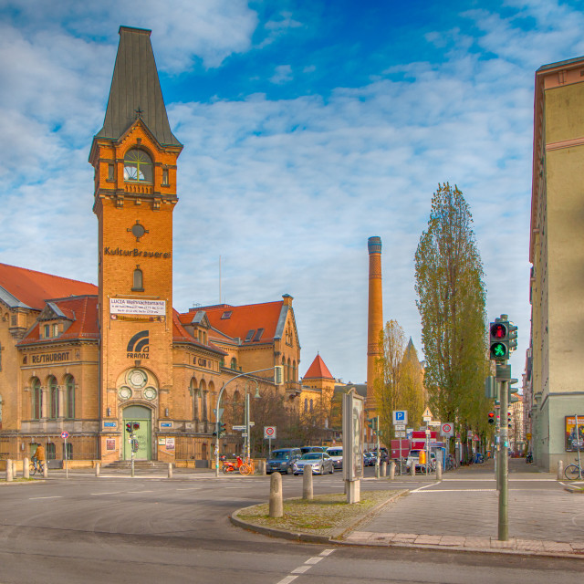 """Berlin Kultur Brauerei City View"" stock image"