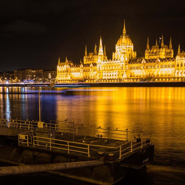 """Budapest Night View Parliament"" stock image"