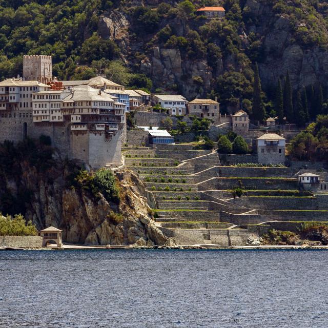 """Monastery at Mt. Athos"" stock image"