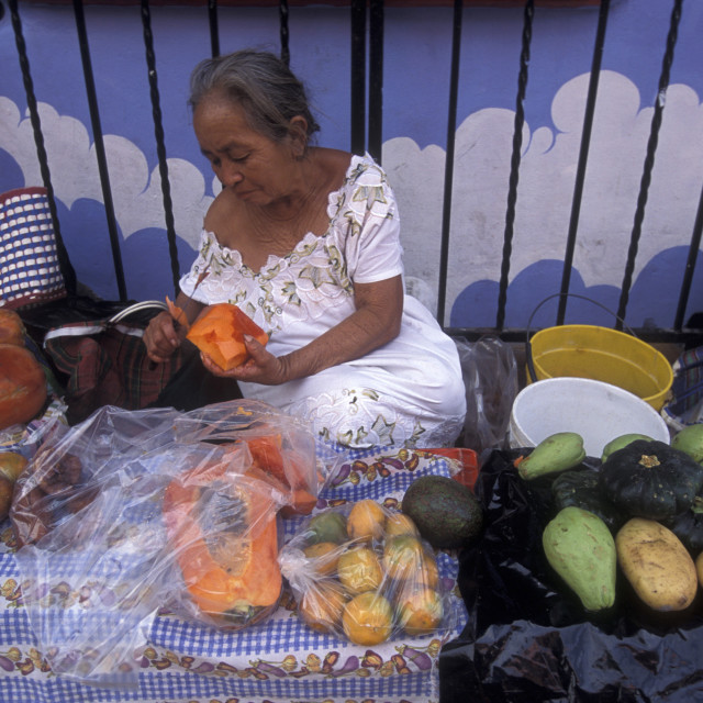 """MEXICO YUCATAN CANCUN ISLA MUJERES TOWN MARKET"" stock image"