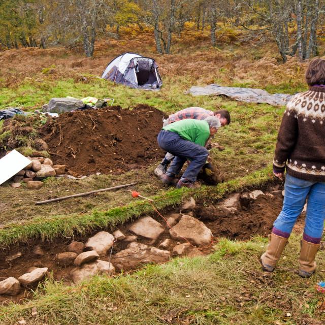 """Kinord Excavation"" stock image"
