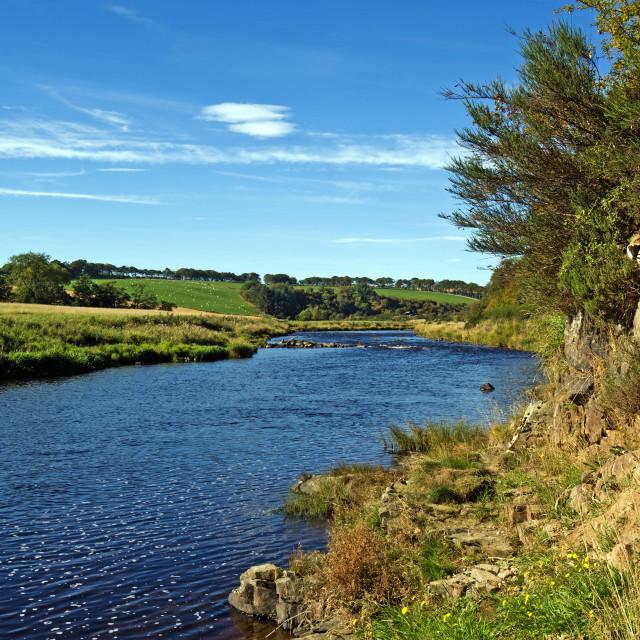 """River Deveron Inverkeithny"" stock image"