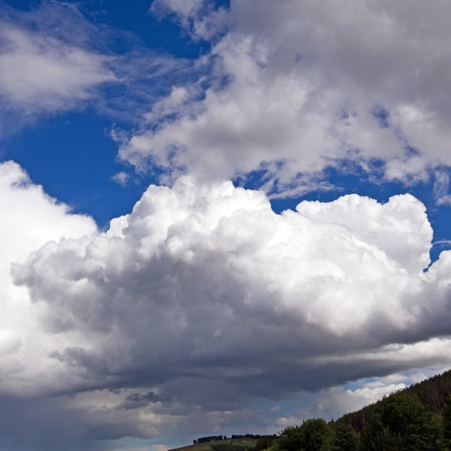 """""""Summer Clouds"""" stock image"""