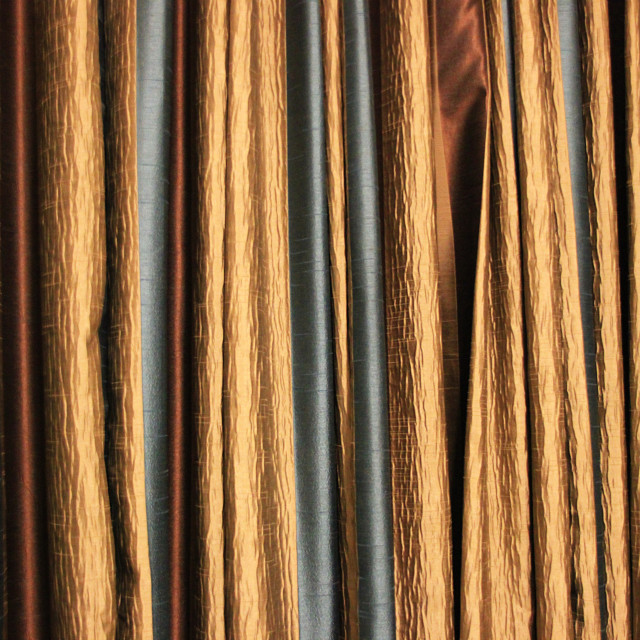 """Grand, Curly Curtain Fabric"" stock image"