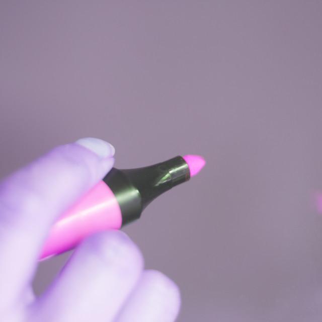 """Felt tip marker highlighter pen"" stock image"