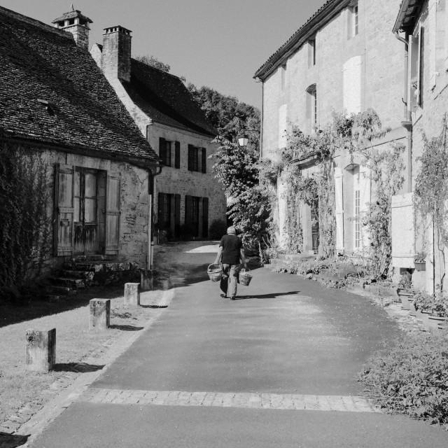 """Walking home"" stock image"