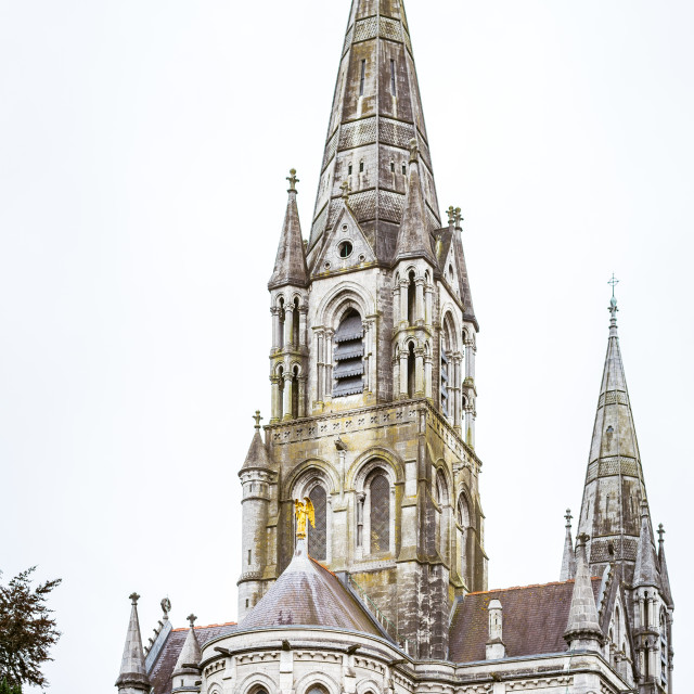 """Cathedral Saint Fin Barres"" stock image"