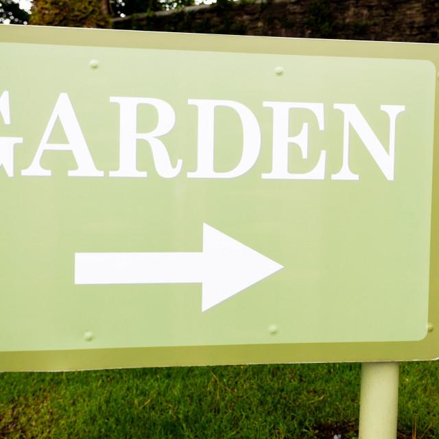 """""""Garden poster"""" stock image"""
