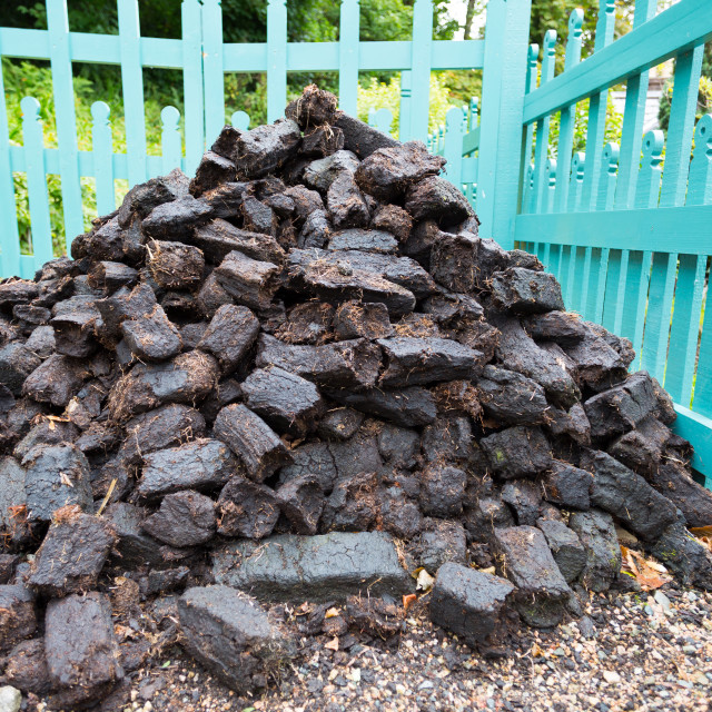 """Mound peat"" stock image"