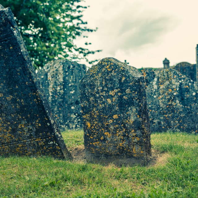 """Old cemetery"" stock image"