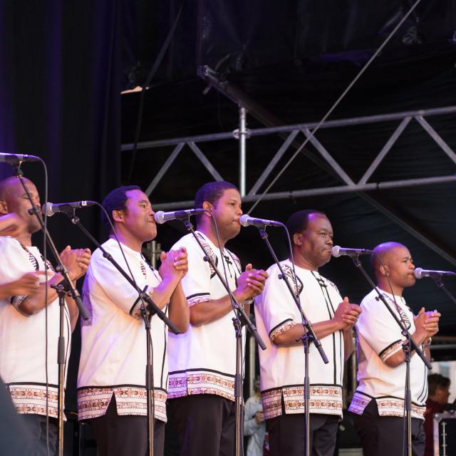 """Ladysmith Black Mambazo - Mela Festival Oslo - 12"" stock image"