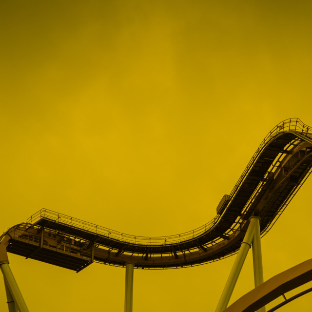 """Rollercoaster"" stock image"