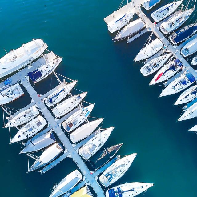 """Marina and boats"" stock image"