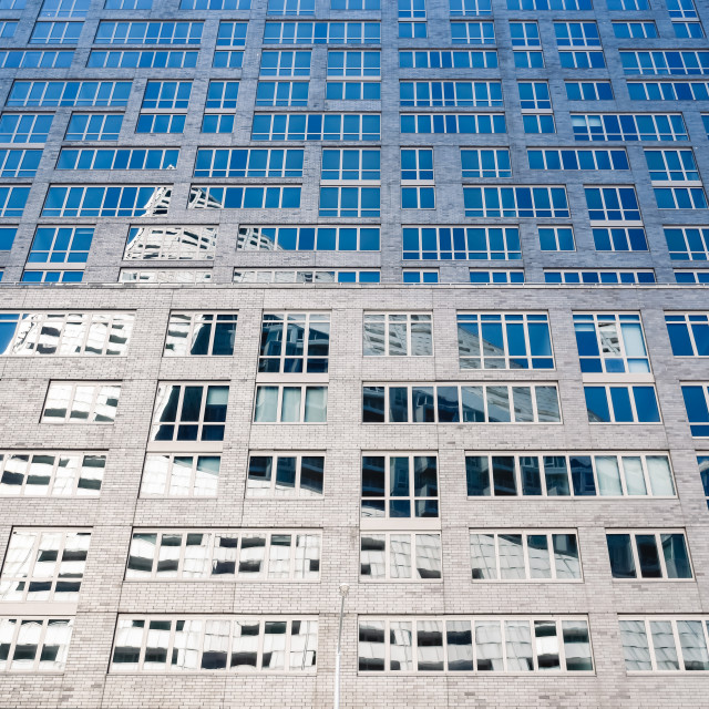 """""""Facade of apartment building in New York"""" stock image"""