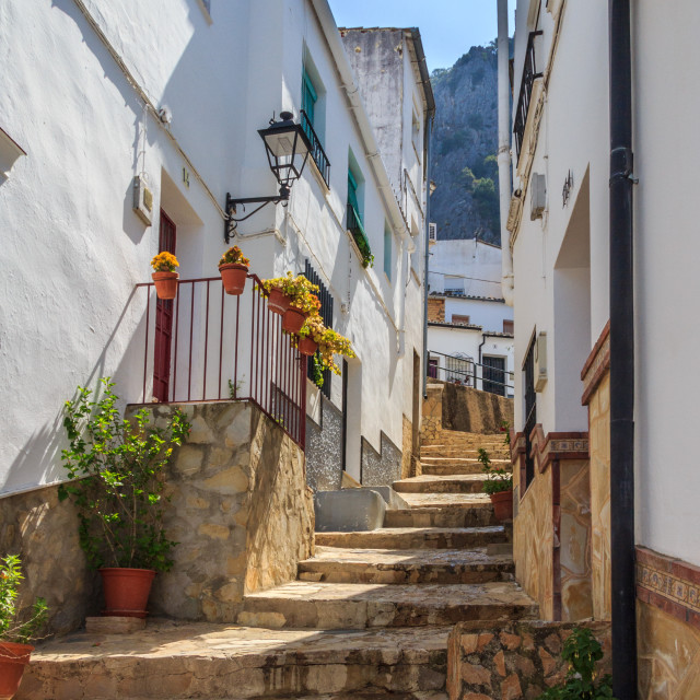 """""""Very steep, narrow street"""" stock image"""