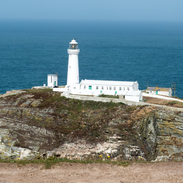 """South Stack Lighthouse"" stock image"