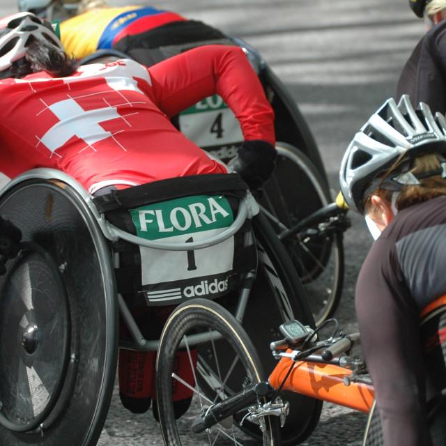 """Wheelchair Marathon"" stock image"