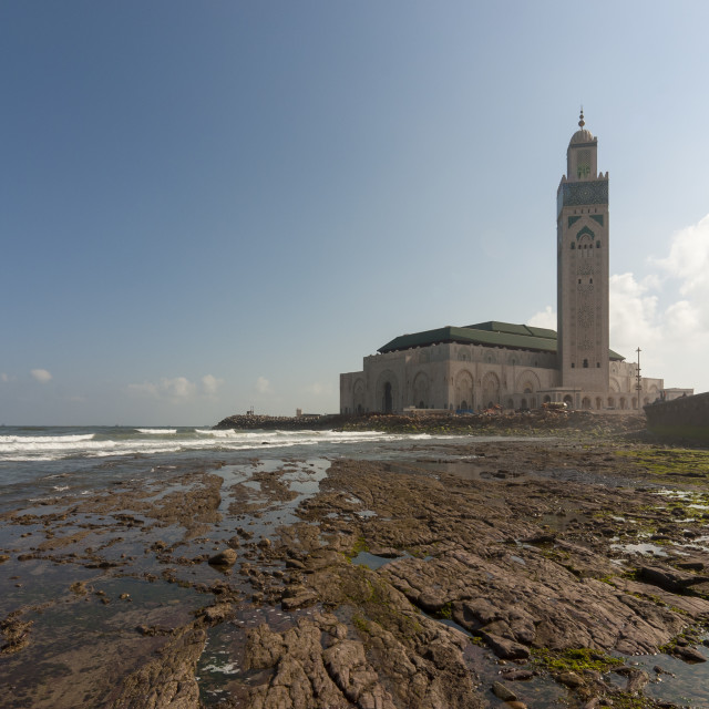 """Hassan II Mosque in Casablanca, Morocco"" stock image"