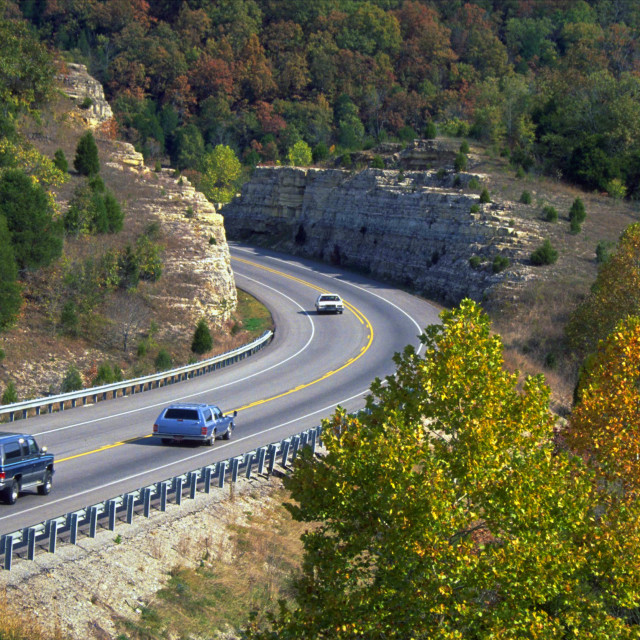 """Ozarks Highway-Autumn"" stock image"
