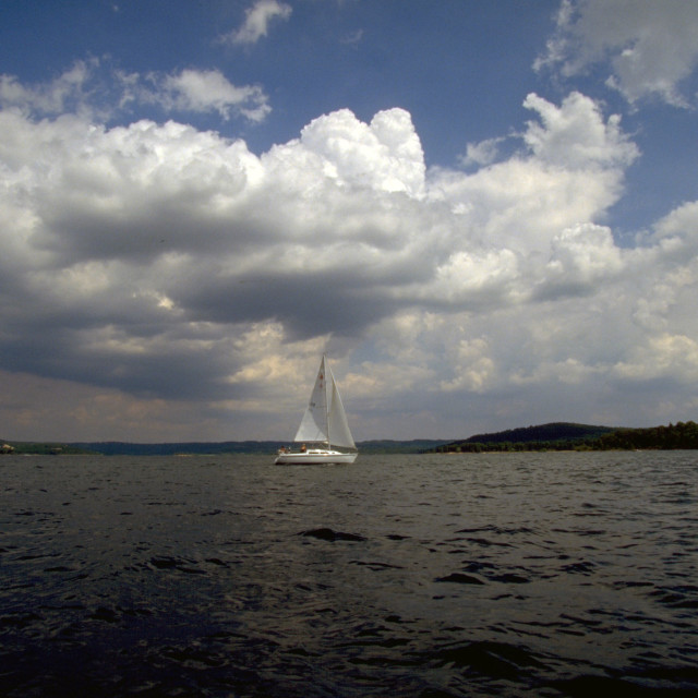 """Sailing Under the Clouds"" stock image"