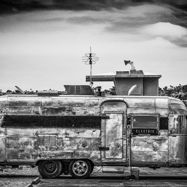 """Vintage Airstream Trailer"" stock image"