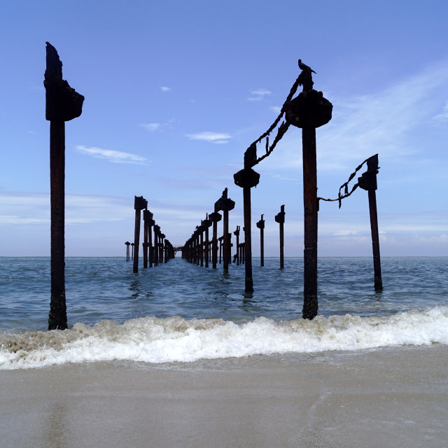 """Broken Pier"" stock image"