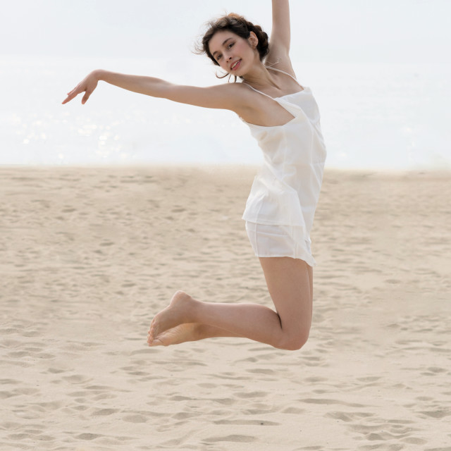 """Jessica P :: Beach Dancer"" stock image"