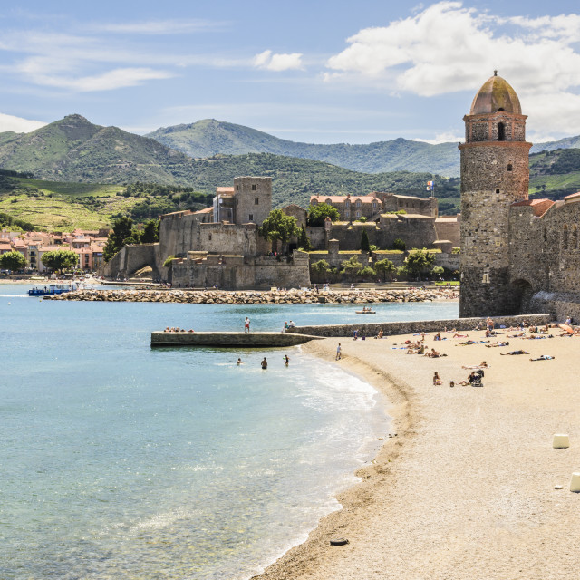 """""""Collioure on the Côte Vermeille, France"""" stock image"""
