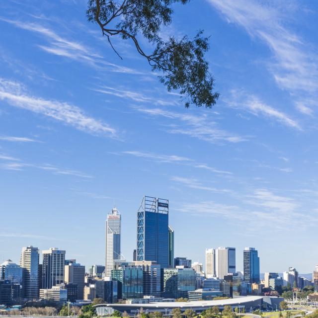 """Perth skyline, Western Australia"" stock image"