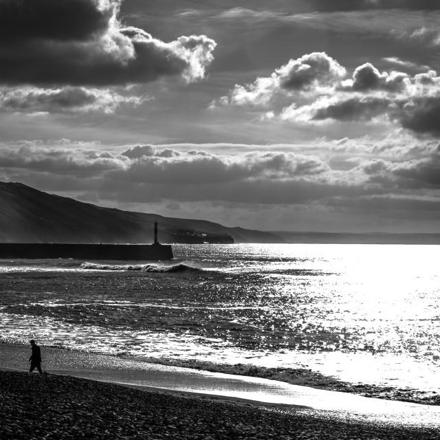 """Aberystwyth South Beach"" stock image"