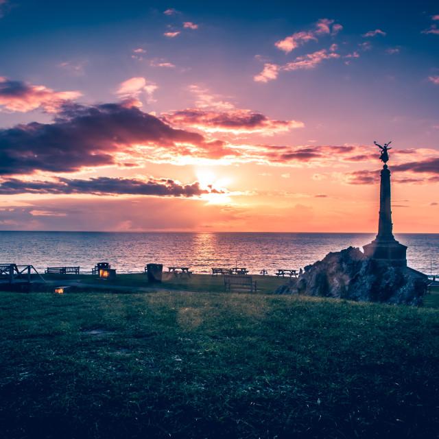 """Aberystwyth War Memorial"" stock image"
