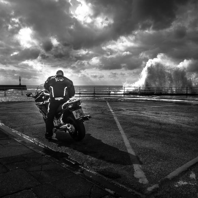 """""""Biker Storm"""" stock image"""