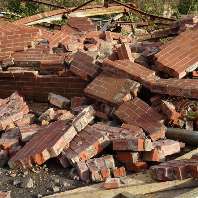 """Broken Down Wall"" stock image"