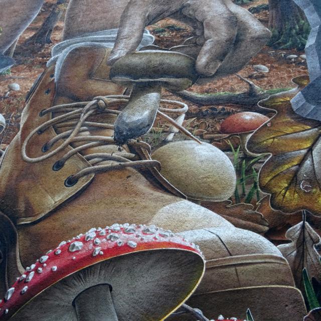 """Detail of Glasgow Graffiti"" stock image"