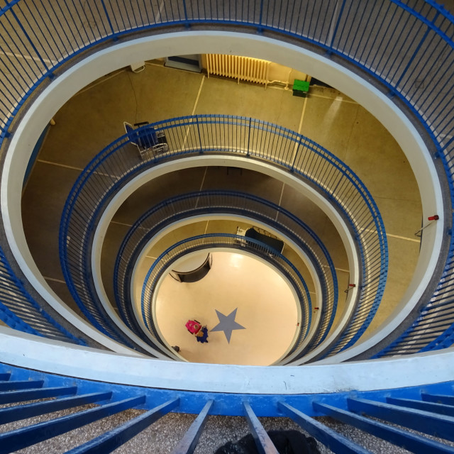 """""""Stairwell in the Royal Infirmary, Glasgow"""" stock image"""