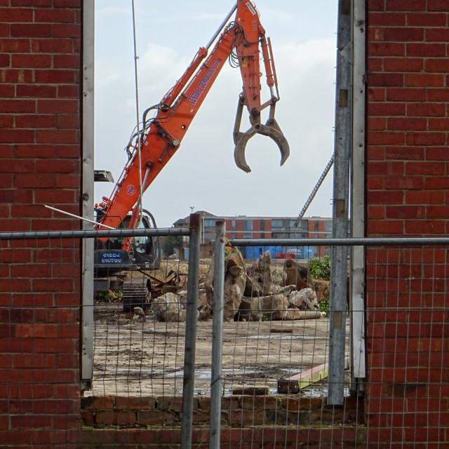 """Demolition in Progress"" stock image"