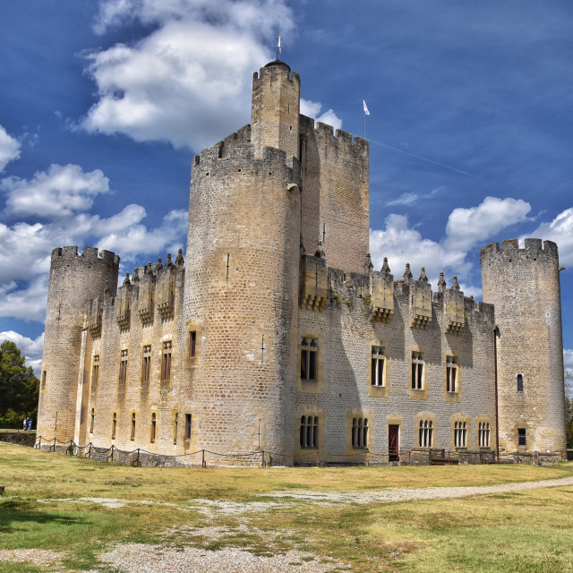 """""""Roquetaillade Castle in Cadillac"""" stock image"""