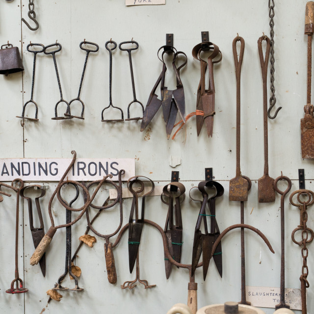 """Branding Irons and Shears"" stock image"