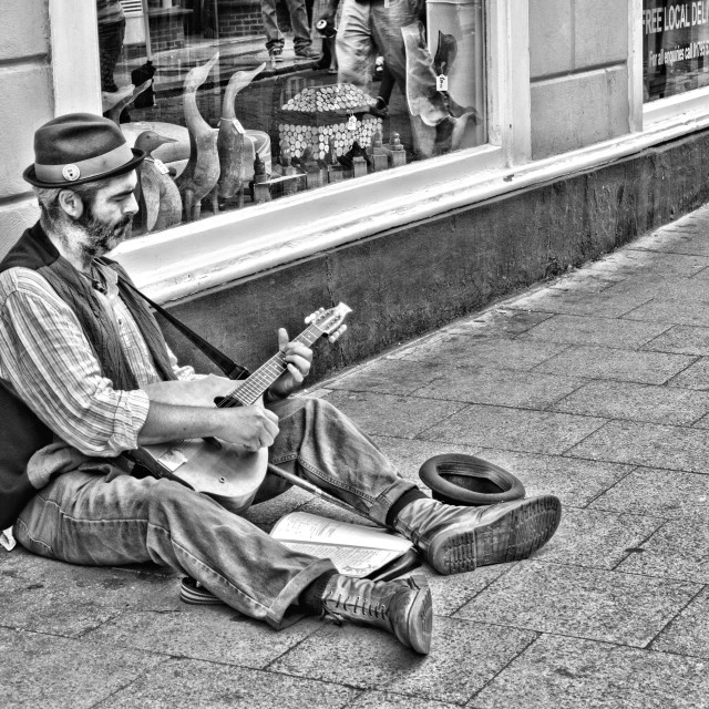 """The Busker"" stock image"