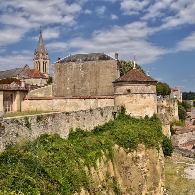 """Bourg-Sur-Gironde"" stock image"