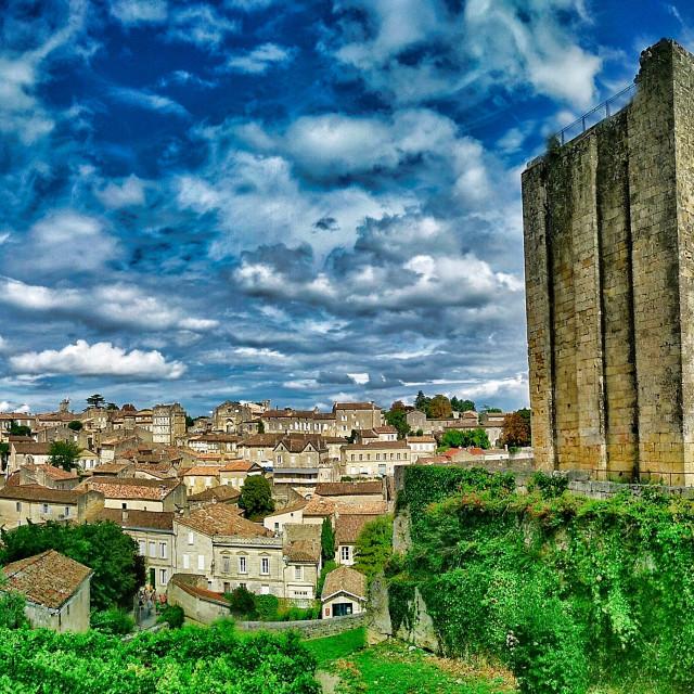 """""""Saint-Émilion Panorama"""" stock image"""