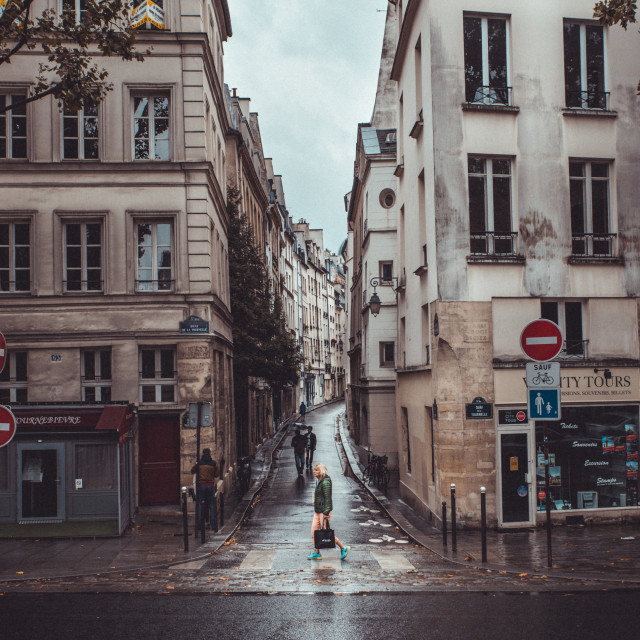 """Wet Streets of Paris"" stock image"