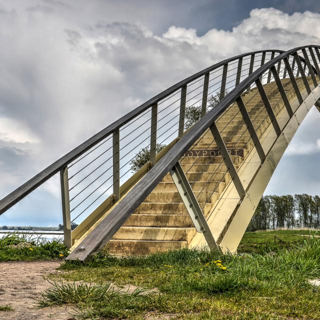 """Siingle-span composite bridge"" stock image"
