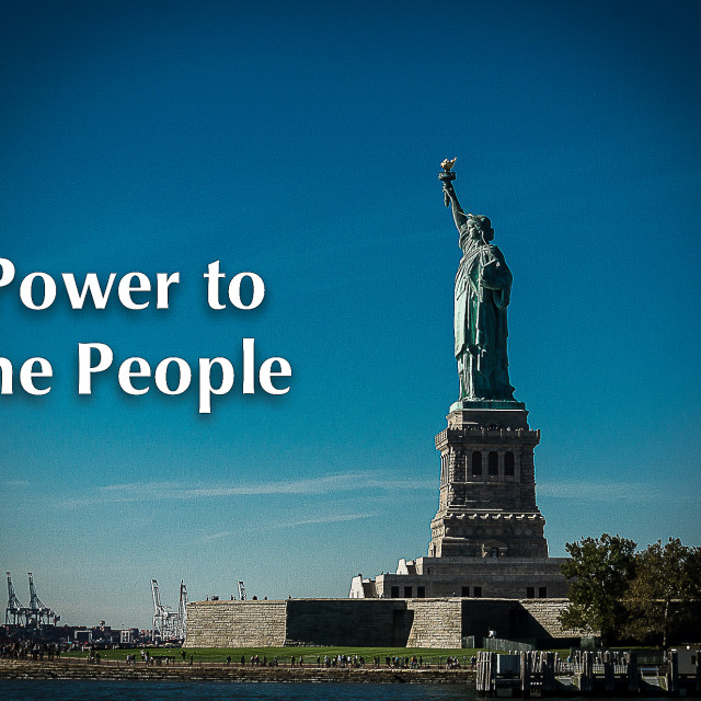 """""""Power to the People"""" stock image"""