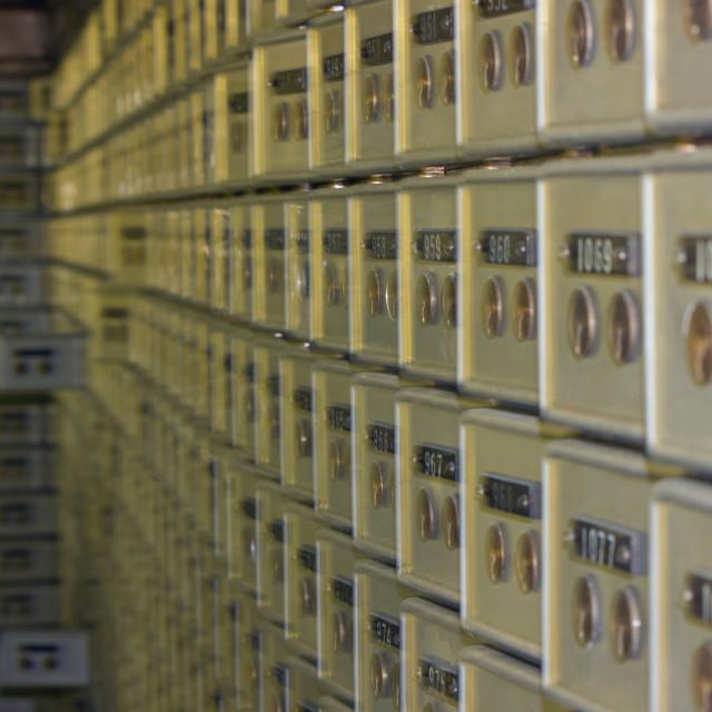 """""""Safe Deposit Boxes"""" stock image"""