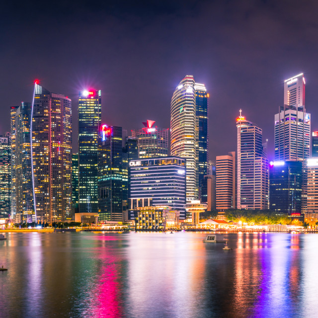 """Skyscapers of Singapore"" stock image"