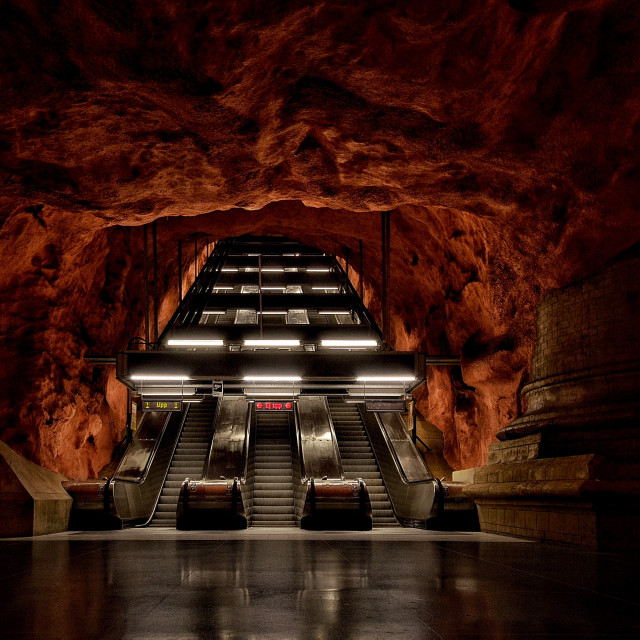 """Stockholm Subway Station"" stock image"